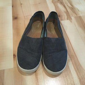 Toms Gray Avalon Slip-Ons